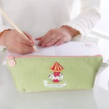 日韩文具卡通趣味游乐园系列船型笔袋笔套铅笔盒化妆包收纳包mh14-294 绿色