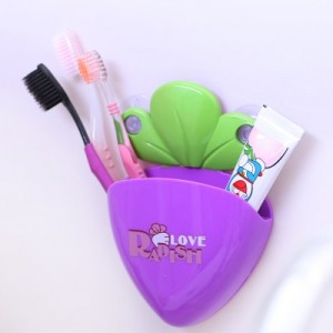 创意萝卜造型牙刷套装 牙刷架 RB215 大红