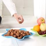 时尚炫彩五角海星多用水果盘 创意塑料盘 干果盘 零食盘  蓝色