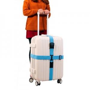 创意拉杆箱旅行箱行李箱捆箱带 十字打包带加厚捆绑带 黑色