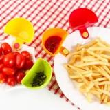 创意厨房用品多用途可夹餐碗盘调料碗碟夹子碟4个装垃圾勺果壳勺