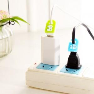 创意家居插座插头标识牌 记录牌 标示牌 线标(6个装)
