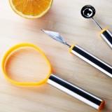 水果三件套 水果挖球勺/雕花刀/去皮器挖籽
