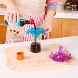 创意厨房小号油漏斗 糖果色酱油醋酒漏斗 可做杯子沥水架 绿色