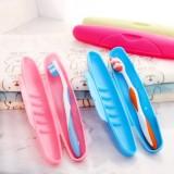 创意时尚便携式牙刷盒 旅行必备防尘无菌 牙刷收纳盒 蓝色