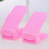 艺源第四代双层立体式亲子鞋架 1对装--粉色(成人款)
