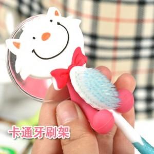 可爱卡通动物强力吸盘牙刷架 小猪