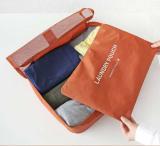 韩国旅行整理收纳包 多功能尼龙网格透气收纳袋(M)带内胆 深蓝色