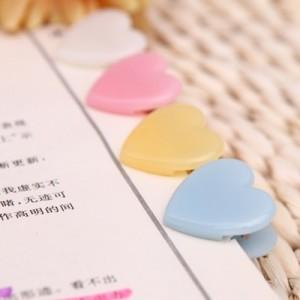 韩版学生时代B多功能爱心小夹子 票据夹(30个装)ABS91677