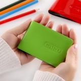 时尚糖果色高档漆皮6张多卡位信用卡包银行卡包名片夹 绿