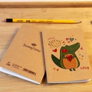韩国文具趣玩时刻口袋本 迷你随身笔记本 记事本 小鳄鱼