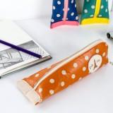 韩国大容量创意笔袋 可爱简约毛毡文具盒铅笔盒笔袋 女生MH14-192 蓝色