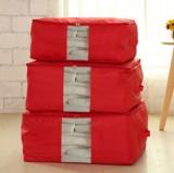 多彩防水牛津布棉被整理袋 可视衣物收纳袋 被子整理箱 大号  大红