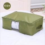 多彩防水牛津布棉被整理袋 可视衣物收纳袋 被子整理箱 中号 军绿