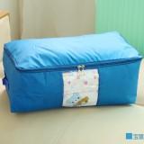 多彩防水牛津布棉被整理袋 可视衣物收纳袋 被子整理箱 小号 宝蓝