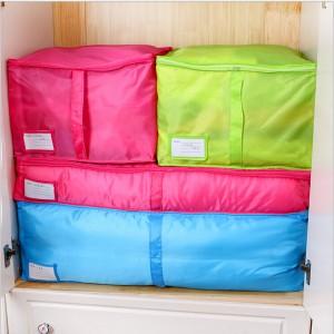 多色衣物收纳箱盒 棉被收纳袋内衣袜子整理箱  中号 绿色