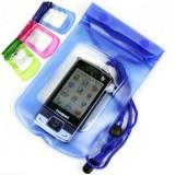 手机透明防水袋/漂流游泳多功能防水包 -蓝色