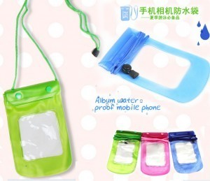 手机透明防水袋/漂流游泳多功能防水包 -绿色