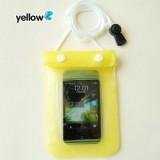 手机透明防水袋/漂流游泳多功能防水包 -黄色