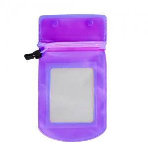 手机透明防水袋/漂流游泳多功能防水包 -紫色