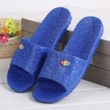 夏季家居EVA爱心拖鞋 防滑浴室拖鞋 室内情侣凉拖鞋 男款蓝色