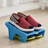 多用收纳空间DIY整理鞋架 日式大阪城鞋架-蓝色