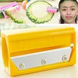 带镜子黄瓜美容切片器 DIY卷笔刀面膜器-黄色 200个/箱