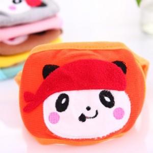 纯棉双层保暖防尘/防流感/防PM2.5 儿童口罩(熊猫款) 黄色