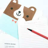 日韩小熊服装秀中信纸信封套装 NJ-011-10