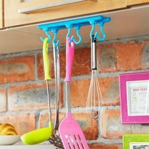 糖果色顶棚吊顶橱柜6连挂钩 带专利 JY013 蓝色