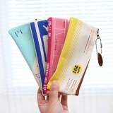 创意韩国文具吊牌系列B6网格袋 笔袋 MH13-944 湖蓝色