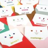 可爱表情生活留言套装(12张信封+12张卡片+16张贴纸)