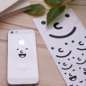 韩国文具可爱笑脸表情DIY相册手机贴纸 3色表情贴(3枚入)