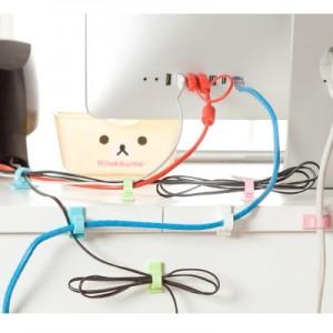 电线整理收纳线扣 集线夹 理线夹(4个装)JY017 粉色