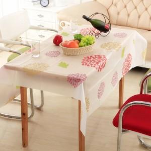 优质PEVA磨砂透明防水防尘台布/桌布--太阳花(130*140cm)