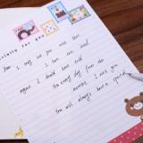 韩国文具淡彩私语小信纸套装(2信封+4信纸)NJ-001-16