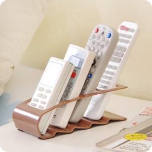 韩版创意四格遥控器收纳架收纳盒 手机收纳座 橙色