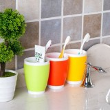 创意糖果色双层双色漱口杯 塑料洗漱杯 刷牙杯 水杯 黄色