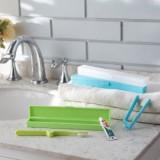 出差旅游用品便携牙刷盒防尘无菌牙具旅行便携(长款)JY015 天蓝