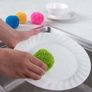 彩色清洁球 不伤涂层电饭煲专用 厨房去污清洁刷 粉色
