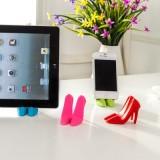 多功能创意高跟鞋懒人手机支架夹子 便携手机座 粉色