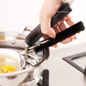 创意实用不锈钢取碗夹多功能防烫夹盘子提碗器 盆碗夹 双柄 黑色