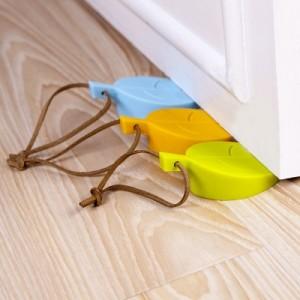 创意树叶硅胶门挡 儿童防夹手安全门卡 黄色