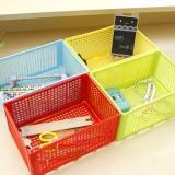 糖果色多功能收纳盒 带盖网格文具盒 绿色