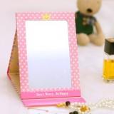 可爱卡通纸镜折叠随身化妆镜 156BU 紫色