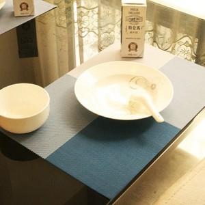 PVC餐垫 隔热垫 4色方格(田字格) 蓝色 300个/箱