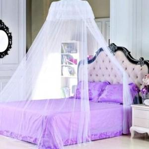 夏季清凉防蚊虫 宫廷式圆顶月牙蚊帐(直径1米) 紫色