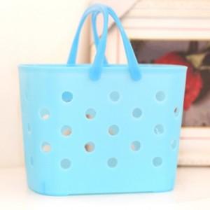 糖果色塑料杂物篮/购物篮(随机发色)HF-914