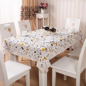 欧式棉麻蕾丝花边餐桌布 餐桌垫(小号80*80cm) 旅行家