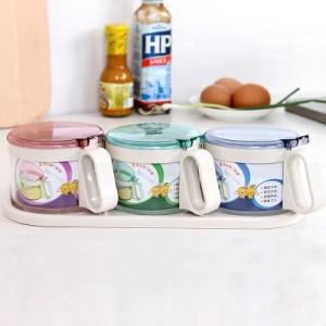 创意厨房 缤纷调味缸套装 调味罐(3个装)TG2503
